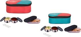Carrolite Assorted Lunch box ( Set of 1 , 700 ml )