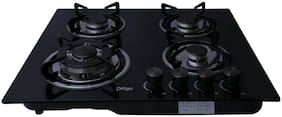 Cartgo 4 Burner Automatic Hobs Black Gas Stove