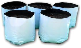 Casa De Amor Plastic Poly Grow Bags (49 x 28 x 28 cm, White, 5-pcs)