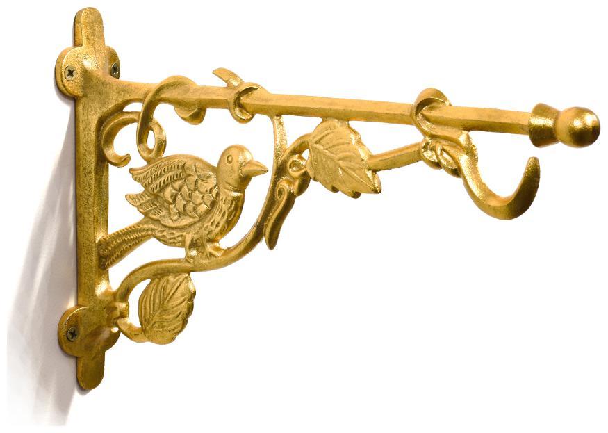 Casa Decor Golden Bird Wall Bracket Handmade Wall Lantern Diya Hanger   Utility Iron Craft