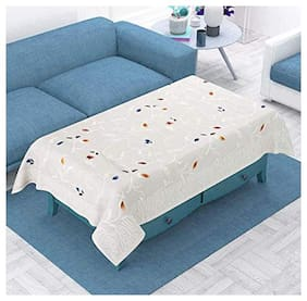 CASA-NEST Premium Soft Net Centre Table Cover ,4 Seater Siz=40x60 (Width x Length), inch,Pack of One,White Color