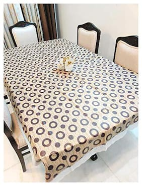 CASA-NEST PVC Printed Centre Table cover, 2-4 Seater Size-40x60 (width x Length), inch, CIRCLE DESIGN Waterproof Easy to Clean, Multi color109