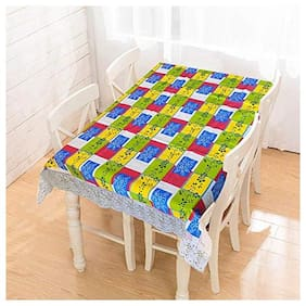CASA-NEST Thick PVC Printed Dining Table cover, 4 Seater Size-40x60 (width x Length),inch, Waterproof Easy to Clean, Multi color 203