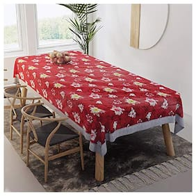 CASA-NEST Thick PVC Printed Dining Table cover, 4 Seater Size-40x60 (width x Length), inch, Waterproof Easy to Clean, Multi color 200
