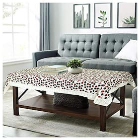 CASANEST PVC Centre Table Cover, 40X60 inches, Circle, Brown