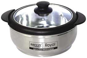 Breeze Royal Stainless Steel Casserole with Glass lid 2000 ml