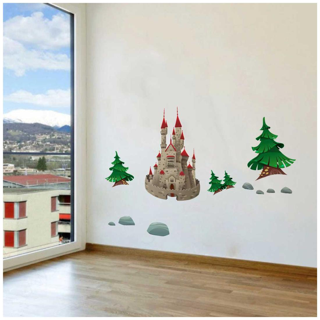 Rawpockets Wall Stickers ' Castle and Fantasy World' Wall Decal Sticker ' by Raw Pockets