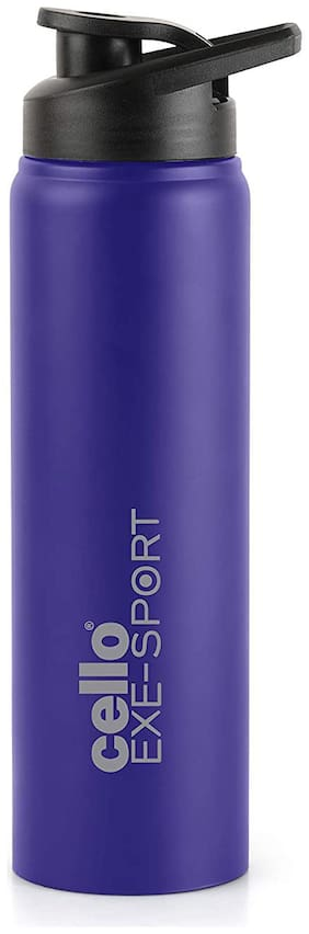 Cello Stainless Steel Water Bottle Set of 1 ( Blue , 1000 ml )