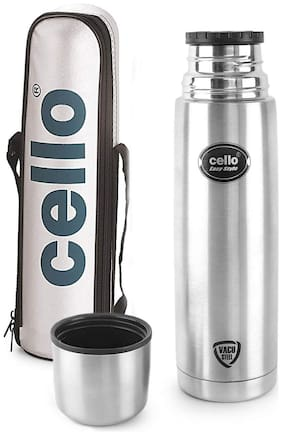 Cello Thermosteel Flask Set of 1 ( Silver , Stainless Steel ,  1000 ml )