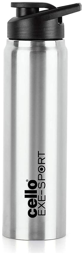 Cello Stainless Steel Water Bottle Set of 1 ( Silver , 1000 ml )