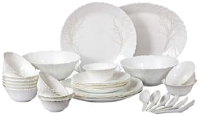 Cello Imperial Winter Frost Opalware Dinner Set;33 pcs;White