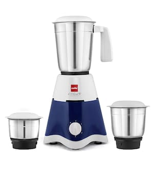 Cello LIFESTYLE 500 500 W Mixer Grinder ( White & Blue , 3 Jars )