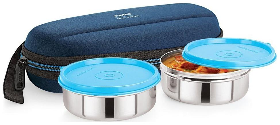Cello Max Fresh Super Steel 2 Container Lunch Box Blue by AZ Sellers