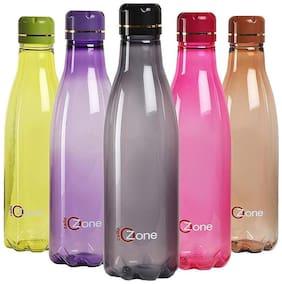 Cello Plastic Water Bottle Set of 5 ( Assorted , 1000 ml )