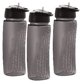 Cello 700 ml Plastic Black Water Bottles - Set of 3
