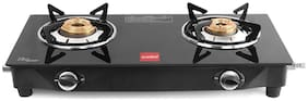 Cello Prima Gas Stove 2 Burner Glass Top Black