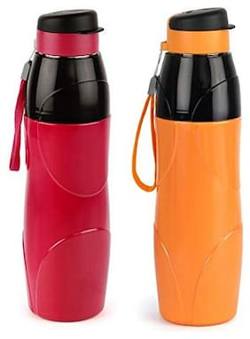 Cello Puro Steel-X Lexus Insulated Bottle With Stainless Steel Inner;900 Ml;Set Of 2;Assorted