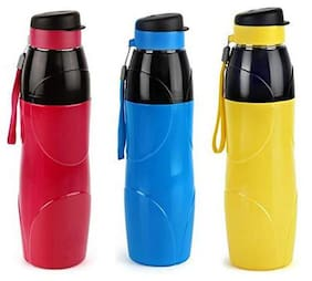 Cello. Puro Steel-X Lexus Plastic Insulated Bottle with Stainless Steel Inner (900 ml) -Set of 3