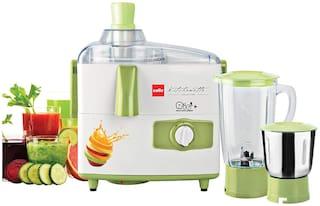 Cello Rio + 500 W Juicer Mixer Grinder with 2 Jars (Green & White)
