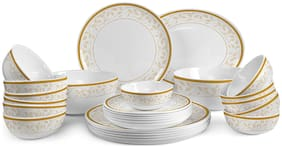 Cello Opalware Dinner Sets - Set of 27 , White