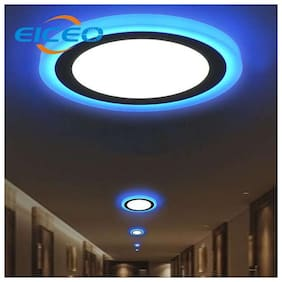 CENTURO 6 WATT CEILING LED PANEL LIGHT WITH DOUBLE COLOR {BLUE+WHITE},1980 LUMENS | 6500k ( PACK OF 16) Recessed Ceiling Lamp
