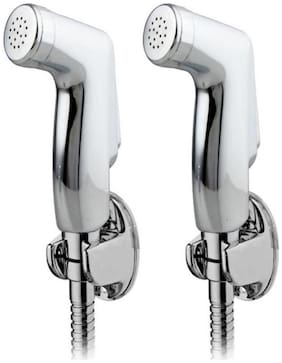 Dr. Homz N Kitch Wall Mount Steel Health Faucets ( Push Controlled )