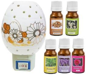 Ceramic Aroma Oils & Diffusers Set - Pack of 6