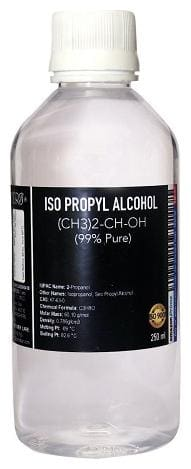 Cero IPA Iso-Propyl Alcohol 99 Percent Pure [(CH3)2-CH-OH] CAS: 67-63-0, 200ml