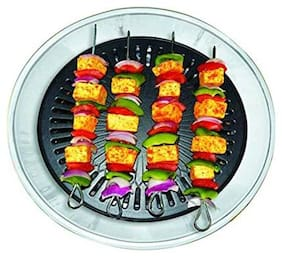 CHEFMAN Gas Grill Indoor Smokeless Barbeque Non Stick Coating Grill -Black