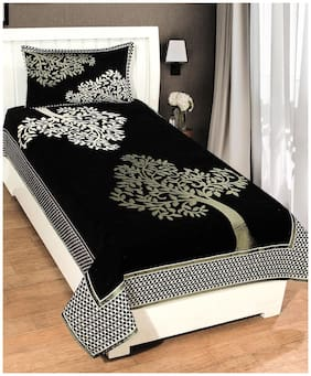 Chenille Single Bedsheet with 1 Pillow Cover By Fresh From Loom