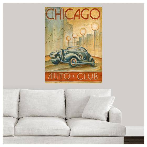"Poster Print /""Chicago Auto Club/"""