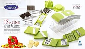Chipser Slicer Dicer Vegetable & Fruit cutter (15 in 1)