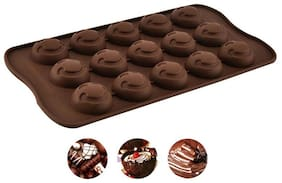 Chitranshi Silicone Smiley Shape Chocolate Mould,Jelly Candy Mould,15 cavity bakeware mould.(Pack of 1)