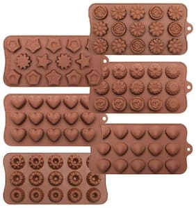 Shrines Silicone Brown Baking & icing tools ( Set of 6 )