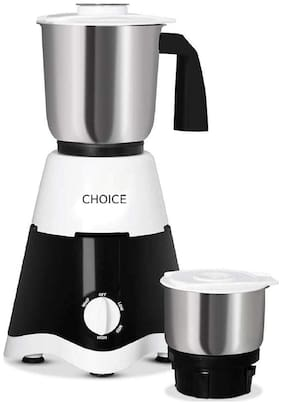 Choice SAMURAI 500 500 WATTS Mixer Grinder ( White & Black , 2 Jars )