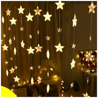 Buy Christmas Tree Decoration Led String Lights 40stars Home Curtain Window Wedding Party Decorative Lights String Festival Decor Online At Low Prices In India Paytmmall Com