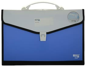 Chrome 9322 Expanding File Handle & Lock - 13 Pockets (Blue)