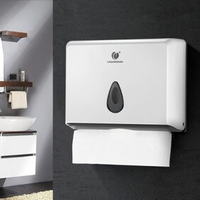 CHUANGDIAN Wall-mounted Bathroom Tissue Dispenser Tissue Box Holder for Multifold Paper Towels