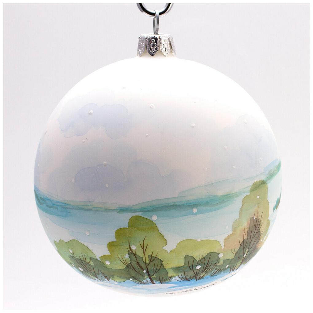 Celebrations Occasions 3 9 Winter Village Church Christmas Glass Ball Ornament Handmade In Russia Kisetsu System Co Jp