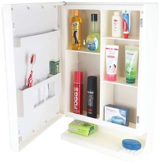 Ciplaplast New Look Plastic Multipurpose Cabinet with Mirror- Ivory