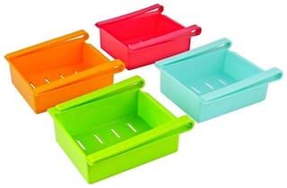 Citresa Fridge Space Saver Organizer Slide Plastic Storage Rack Shelf Drawer 1Pc