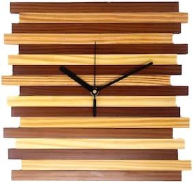 CRIMSON KNOT Brown Wall Clock
