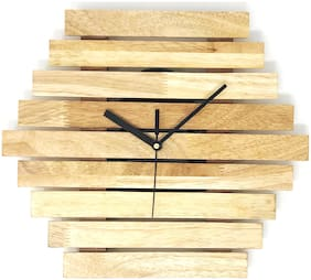 CRIMSON KNOT Wood Analog Wall clock ( Set of 1 )