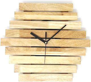 CRIMSON KNOT Wood Analog Wall clock ( Set of 1 )