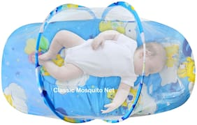 Classic Mosquito Net Baby Bedding Set With Mosquito Net And Pillow (Blue)