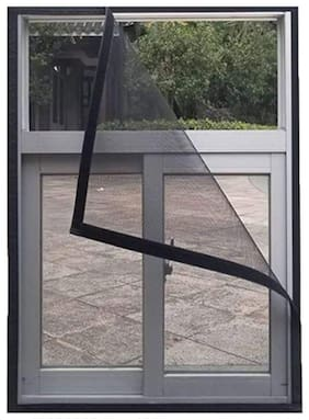 Classic Mosquito Net Pre Stiched Fiber Glass Window Net For Mosquito Protection With Self Adhesive Velcro Tape