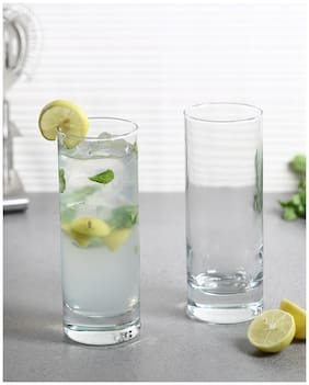 Uniglass Classico Tall Cocktail, Juice Drinking Glass 325ml Set of 6pcs,Transparent