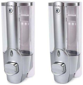 Clean Home Bathroom Liquid Soap/Shampoo Dispenser 350ml Set of 2