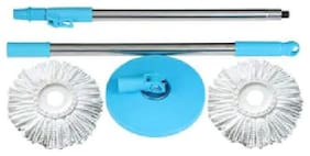 Cleaning Stainless Steel Mop Rod Set Dust Mop 2 Refile  (Pack of 1)  Multi Color