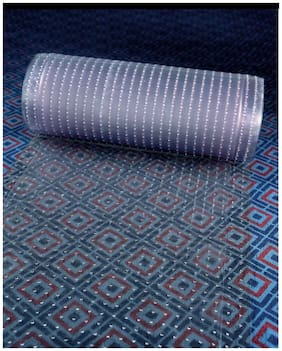 Clear Plastic Runner Rug Carpet Protector Mat Ribbed Multi-Grip.(26in X 96in)